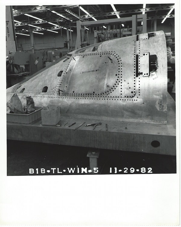 Fixture for the B-1B cockpit.