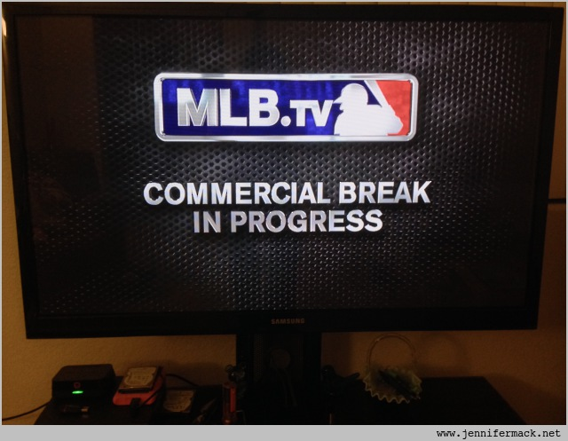 MLB.tv app on AppleTV.