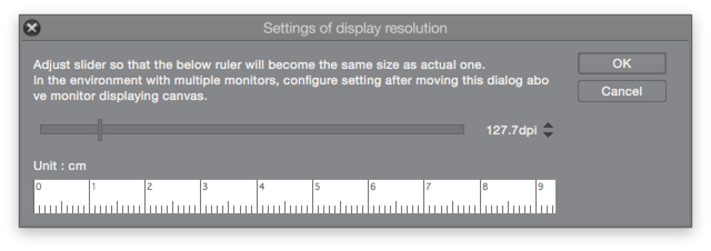 The display resolution settings panel.