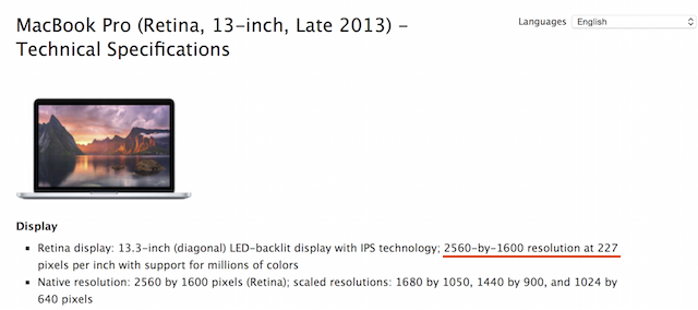Technical specs from Apple's support page