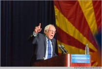 Phoenix, Arizona, USA. 15th March, 2016. Bernie Sanders campaigns for president in front of a crowd of 7347 people.. © Jennifer Mack/Alamy Live News