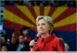 Phoenix, Arizona, USA. 21th March, 2016. Former Secretary of State Hillary Clinton speaks during a campaign rally the day before the Arizona primary elections at Carl Hayden Community High School in Phoenix, Arizona. © Jennifer Mack/Alamy Live News