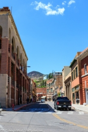 The main street in Bisbee, AZ.