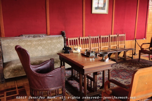 A recreation of Stalin's office, using the original furniture that he used.