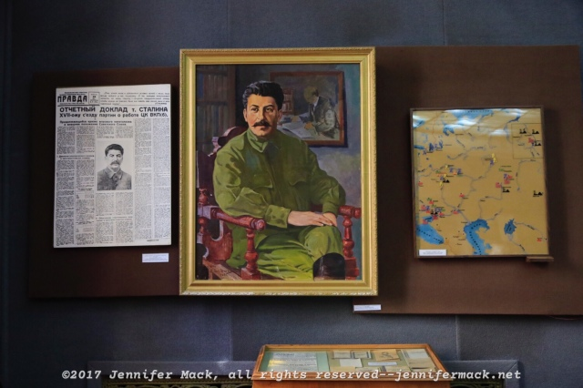 A painting of Stalin made not long after the October Revolution.