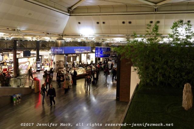 The Ataturk Airport concourse.