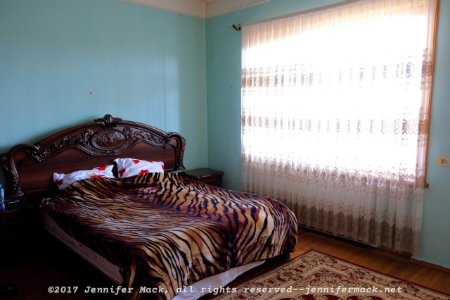 This is my bedroom for my five nights in Kutaisi.