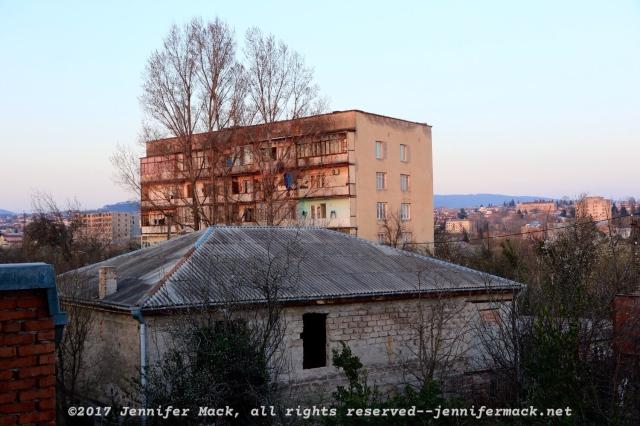 One of the old Soviet apartment blocks in Kutaisi.