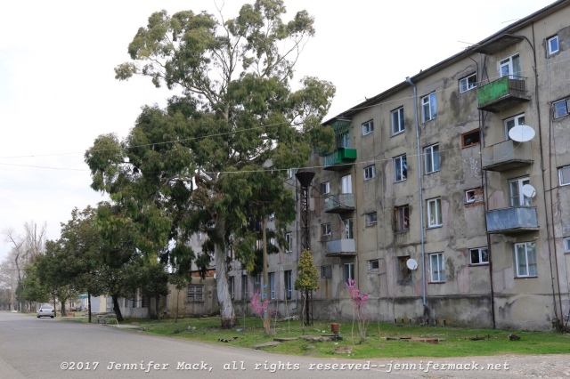 The old Soviet apartments are everywhere. No matter what else you can say, they were built to last.