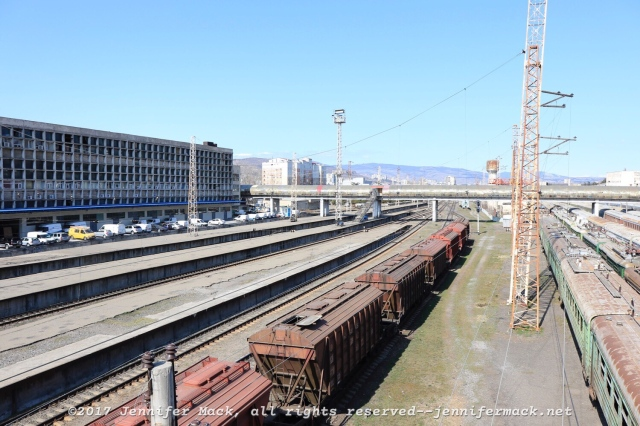 The Tbilisi rail yard.